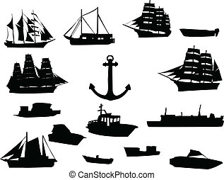 ships - Collection of ships - vector