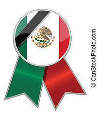 Mexican ribbon with black memorial