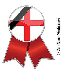 england ribbon with black memorial