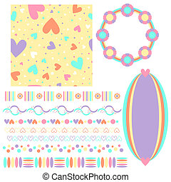 heart texture,tags,trims,hearts