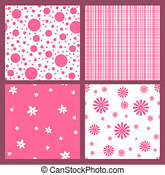 Pink seamless tiling texture collection