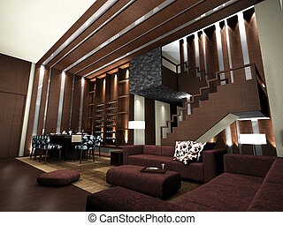 Living room - modern living room design