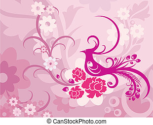 Floral Background Beautiful flowers with color