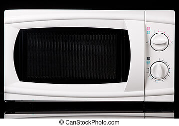 Microwave oven On black background