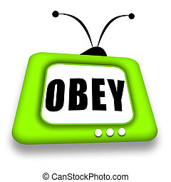 Obey TV - TV set with Obey suggestion inside