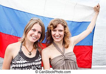 Two Russian beautiful young women