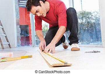 測量, 建築師, 板條