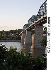 Walnut Street Bridge and TN River in Chattanooga, TN