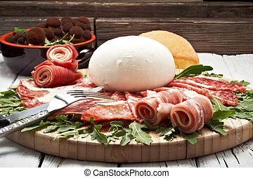mozzarella and pepperoni