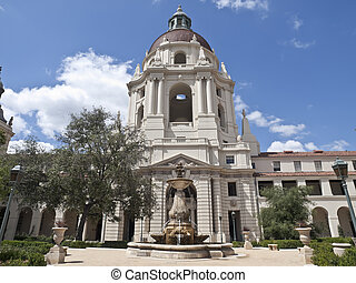 Pasadena City Hall Courtyard - Historic Pasadena City Hall's...