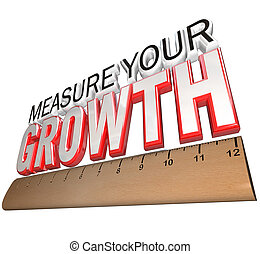 Ruler - Measure Your Growth Tracking Progress to Goal - A...