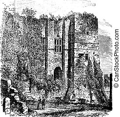Cesars tower at Kenilworth Castle, Warwickshire, United...