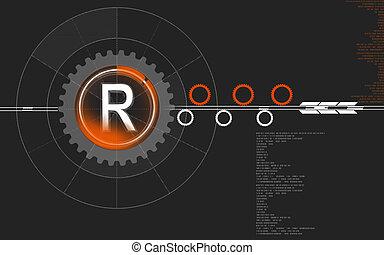 restricted symbol - Digital illustration of restricted...