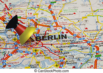 Berlin with Pin - Berlin with german pin