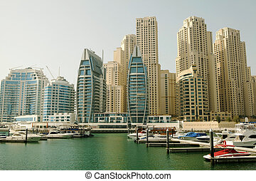 Town scape at summer Panoramic scene, Dubai