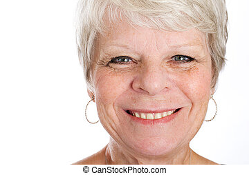 friendly mature woman - a friendly mature woman with a...