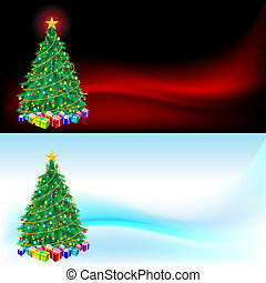 Christmas tree and gifts  - Christmas card for design