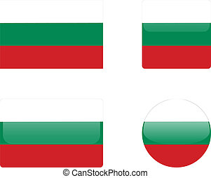 Bulgaria flag & buttons