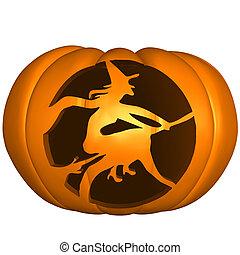 Halloween Pumpkin - 3d render of a halloween pumpkin