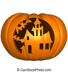 Halloween Pumpkin - 3d render of a halloween pumpkin