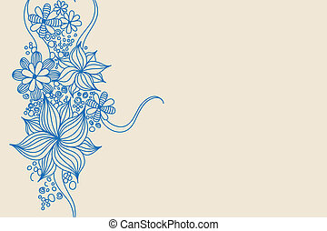 blue flowers - Blue vector flowers on light background...