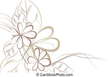 Floral background - beautiful Floral vector background brown...