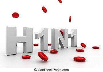 H1N1 - highly rendering 3d image