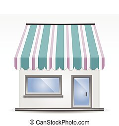 Storefront Awning - vector illustration of Storefront Awning...