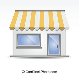 Storefront Awning in Yellow - vector illustration of...