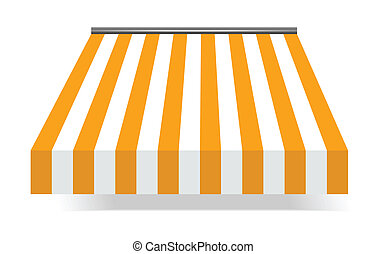 Storefront Awning in Yellow