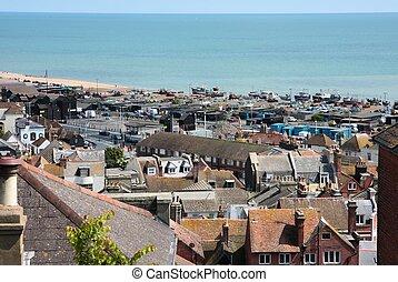 Hastings - Old town of Hastings, UK