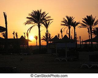 Romantic sunset in Egypt