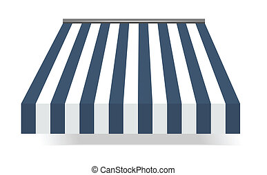 Storefront Awning in blue - vector illustration of...