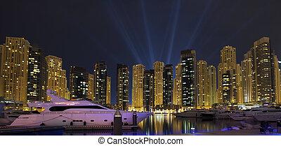 Night city. Panoramic view.