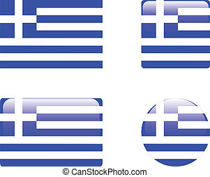 Greece flag & buttons