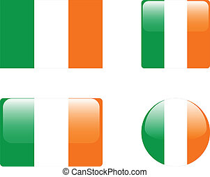 Ireland flag & buttons