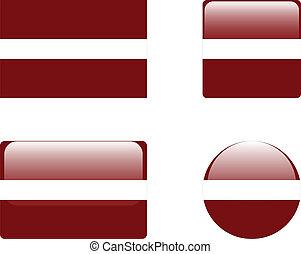 Latvia flag & buttons