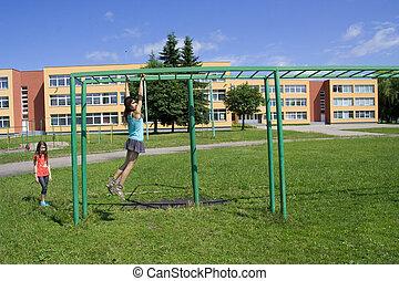 schoolyard - with playground