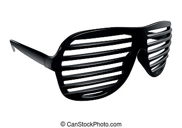 sunglasses - Vector black shutter shades on white background