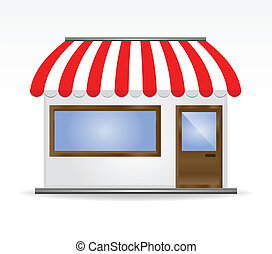 Storefront Awning in red