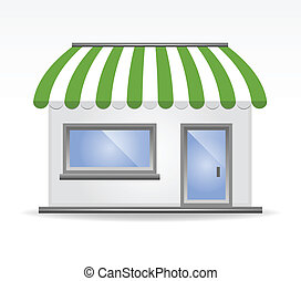 Storefront Awning in green