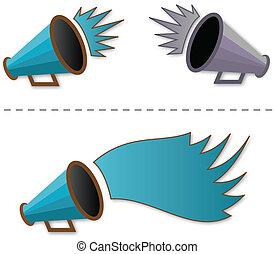 Megaphone shout-out - vector illustration of Megaphone...