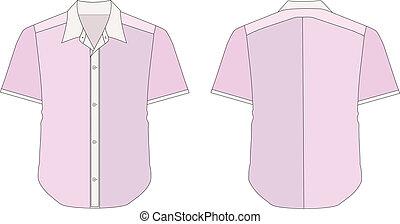 Collar Dress Shirt In Pink Violet Color Tones