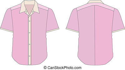 Collar Dress Shirt In Pink Color Tones