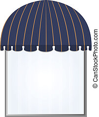 awning - illustration of one different color vector awning