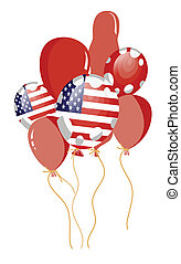 red balloon of american flag