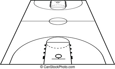 Basketball court Vector Clipart EPS Images. 2,600 Basketball court ...