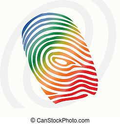 vector finger print - vector illustration of finger print in...