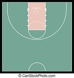 Vector Illustration of the Basketball Court
