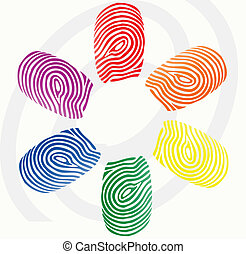 vector finger prints